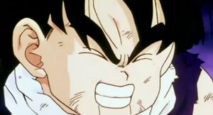 Gohan after geting punched in the stomach4