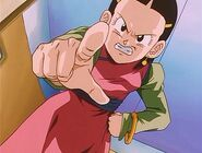 Chi Chi Giving a Talking to to Vessel Goten