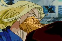 Mr satan punched 18 in the mouth edit