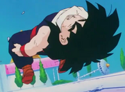 Gohan hits the ground hard2