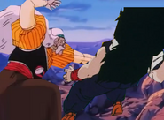 Dr geor hits gohan in the stomach
