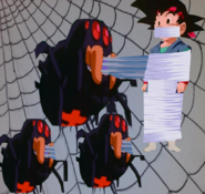Goku jr incased in web