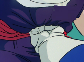 Vegeta punched gohan in the stomach