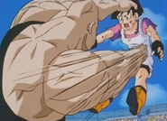 Videl grab by the hair punch her in the stomach