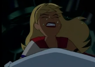 Super girl face punched4