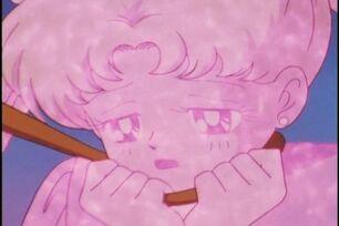 Usagi Serena got energy drained and weakened 307-1