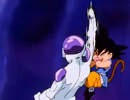 Frieza after punching gt kid goku in the stomach2