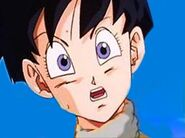 Videl gets beaten by Cell JR