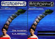 Animorphs 1 the invasion 2 front covers earlier and later printing