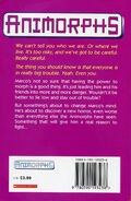 Animorphs 5 the predator UK back cover scan 1997 edition