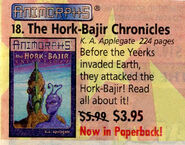 Hork Bajir Chronicles advertised in Scholastic Book Orders