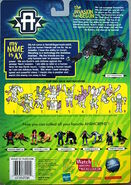 Transformers human ax panther on card back