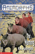 Animorphs 16 the warning UK cover earlier printing