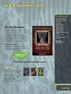 The Predator relaunch book ad from scholastic paperback catalog fall 2011