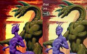 Aldrea and dak hork bajir chronicles US and UK covers compared