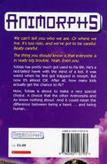 Animorphs 13 change uk back cover