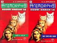 Animorphs 2 the visitor Người khách lạ vietnamese covers books 3 and 4