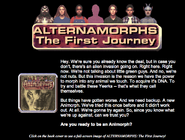 Alternamorphs The First Journey on scholastic web site
