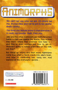 Animorphs 6 the capture UK back cover