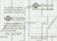 Animorphs Sanctuary passport pages 2-3