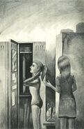 Rachel Melissa Chapman locker room The Visitor Japanese Illustration