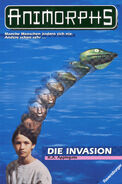 Animorphs 01 Die Invasion german front cover
