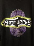 Thumbprint shirt graphic closeup