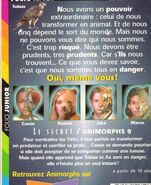 Animorphs 9 the secret french back cover