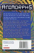 Animorphs 29 the sickness UK back cover