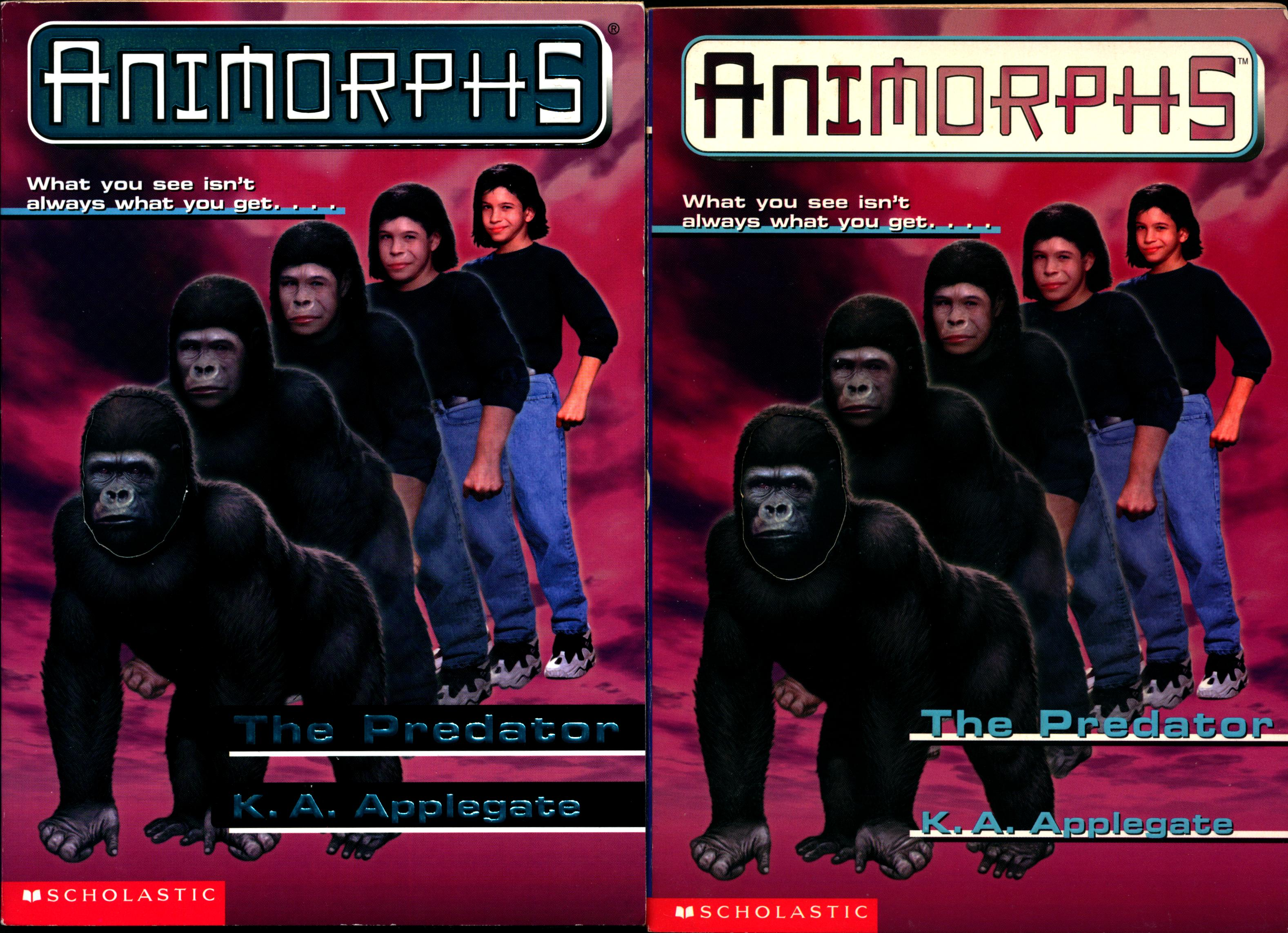 image animorphs book 5 predator 2 covers earlier and later