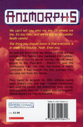 Animorphs 18 the decision UK back cover earlier