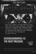 Alternamorphs 2 next passage ad from inside book 39