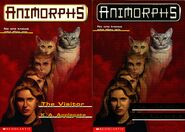 Animorphs 2 visitor two front covers earlier and later printing