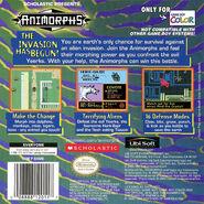 Animorphs gameboy box back cover