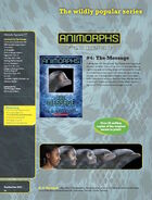 The Message relaunch book ad from scholastic paperback catalog fall 2011