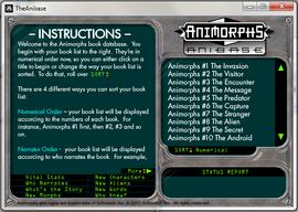 Anibase instructions screenshot
