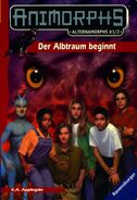 Alternamorphs 1 and 2 german front cover der albtraum beginnt first journey