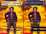 Animorphs book 6 The Capture 2 front covers earlier and later printing