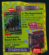 Animorphs 28 experiment book orders ad
