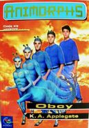 Animorphs 8 the alien Obcy polish front cover