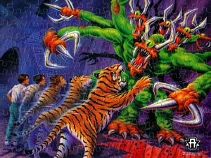 Animorphs jake tiger visser three jigsaw puzzle completed