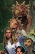 Rachel from mm2 dinosaur poster