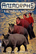 Animorphs 16 the warning La advertencia spanish cover Ediciones B