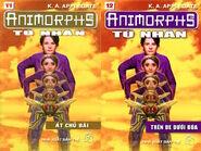 Animorphs 6 the capture Tù nhân vietnamese covers books 11 and 12