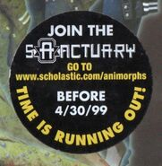 Animorphs book 29 sanctuary ad sticker