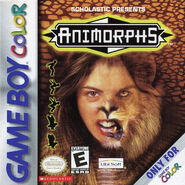 Animorphs gameboy box front