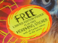 Australian VHS sticker advertising limited edition poster and free morphing sticker
