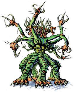 Visser Three licensee illustration eight headed creature