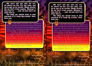 Animorphs megamorphs 2 mm2 time of dinosaurs scholastic edition parts 1 and 2 back cover