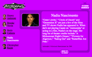 Nadia nascimento nick.com bio